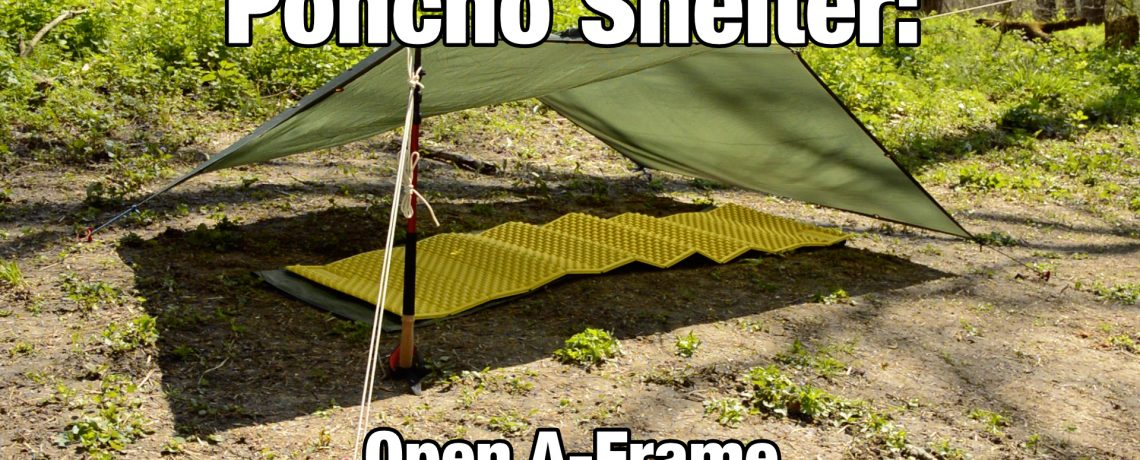 Poncho Shelter: Open A-Frame